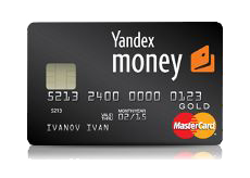Карта Yandex money